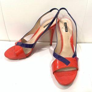 GIORGIO ARMANI Three Color Sandals Sz 40.5